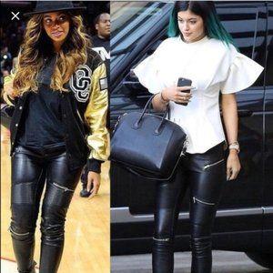 🔥HOT ITEM🔥 Zara Leather Moto Zipper Skinny Pants